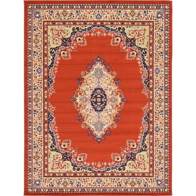 Astral Terracotta Area Rug Rug Size: 9 x 12