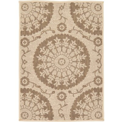 Foreside Beige Outdoor Area Rug Rug Size: Rectangle 22 x 3