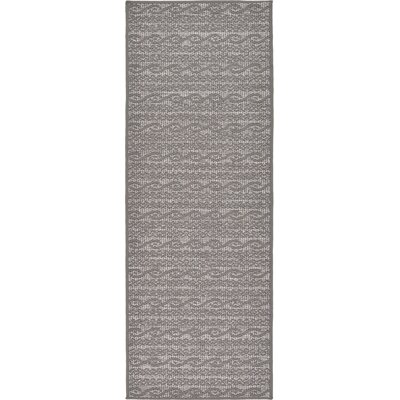 Madeline Gray Outdoor Area Rug Rug Size: Runner 22 x 6