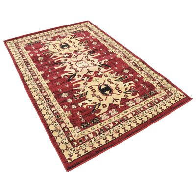 Valley Red Area Rug Rug Size: Rectangle 4 x 6