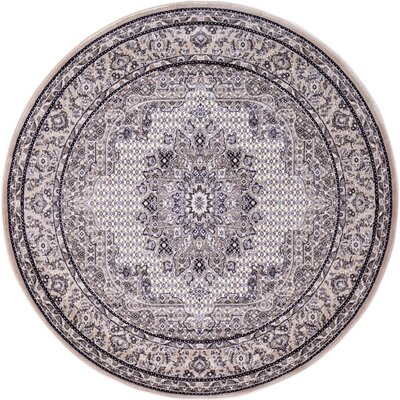 Layton Taupe Area Rug Rug Size: Round 6