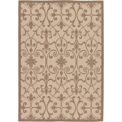 Gerald Brown Outdoor Area Rug Rug Size: Round 6
