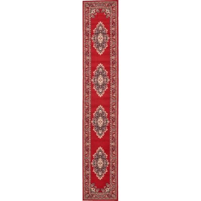 Charlie Red Area Rug Rug Size: Runner 3 x 165