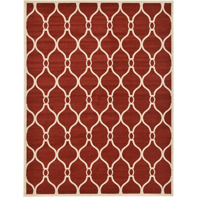 Molly Red Area Rug Rug Size: Round 6