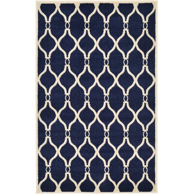 Molly Navy Blue Area Rug Rug Size: 33 x 53