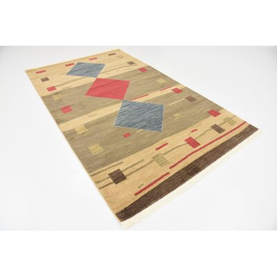 Jan Tan Area Rug Rug Size: 5 x 8