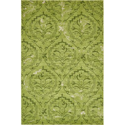 Carolyn Light Green Area Rug Rug Size: Round 8