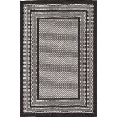 Gerhard Gray Outdoor Area Rug Rug Size: 4 x 6