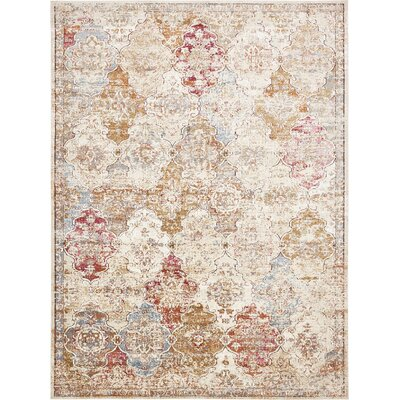 Lynda Beige Area Rug Rug Size: Rectangle 9 x 12