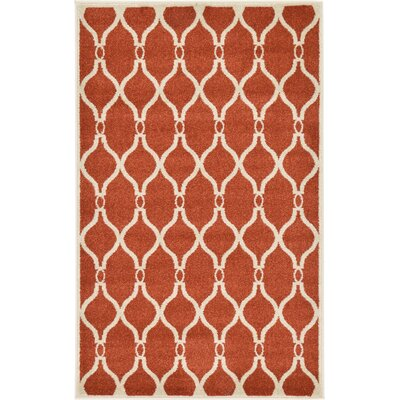 Molly Terracotta Area Rug Rug Size: Rectangle 33 x 53