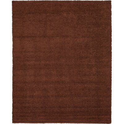 Chandler Solid Shag Brown Area Rug Rug Size: 12 x 15