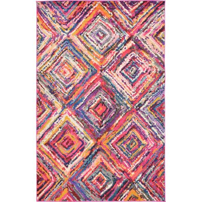 Killington Pink Area Rug Rug Size: 5 x 8