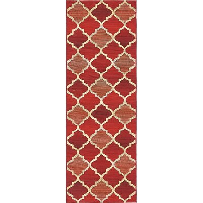 Alice Red Indoor/Outdoor Area Rug Rug Size: Runner 2 x 6
