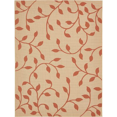 Nesbitt Beige/Terracotta Outdoor Area Rug Rug Size: Rectangle 9 x 12