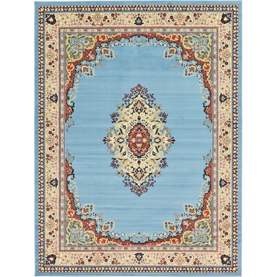Bayer Blue/Beige Area Rug Rug Size: Rectangle 9'10