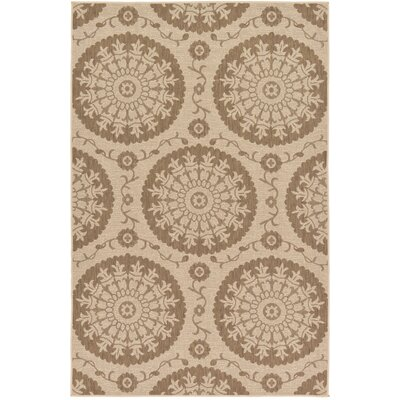Foreside Beige Outdoor Area Rug Rug Size: Rectangle 53 x 8