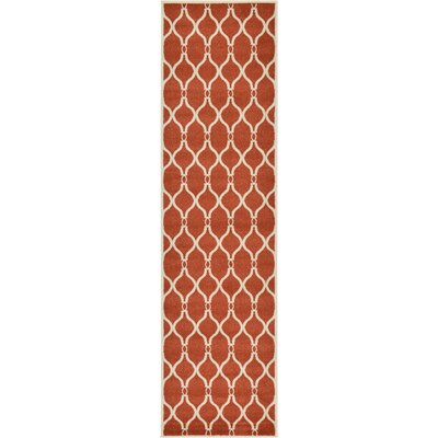 Molly Terracotta Area Rug Rug Size: Runner 27 x 10