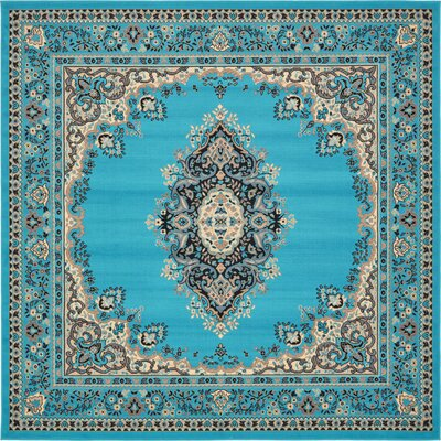 Britain Turquoise Area Rug Rug Size: Square 8