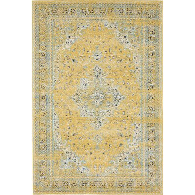 Marine Yellow Area Rug Rug Size: Rectangle 8 x 10
