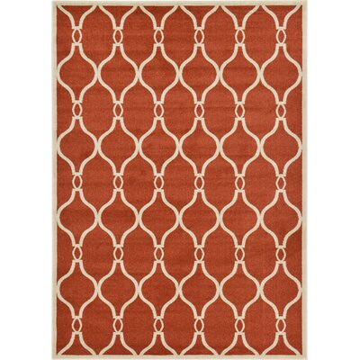 Molly Terracotta Area Rug Rug Size: 7 x 10