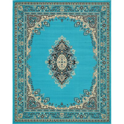 Charlie Turquoise Area Rug Rug Size: Rectangle 8 x 10