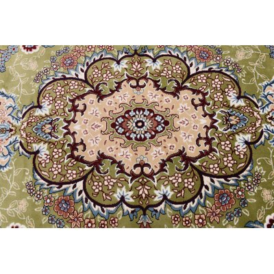 Courtright Green/Ivory Area Rug Rug Size: Round 10