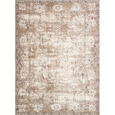 Abbeville Machine Beige Woven Area Rug Rug Size: 9 x 12