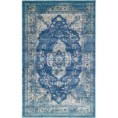 Jae Navy Blue Tibetan Area Rug Rug Size: 5 x 8