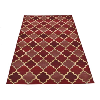 Alice Red Indoor/Outdoor Area Rug Rug Size: Rectangle 53 x 8