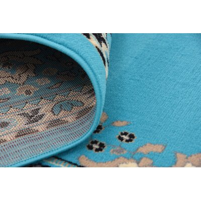 Charlie Turquoise Area Rug Rug Size: 4 x 6
