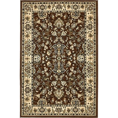 Concord Brown Area Rug Rug Size: 4 x 6