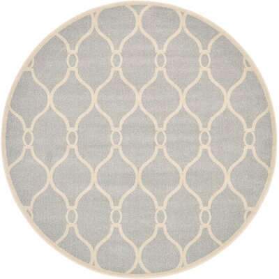 Moore Light Gray Area Rug Rug Size: Round 8