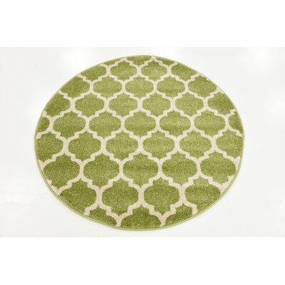 Emjay Light Green Area Rug Rug Size: Rectangle 106 x 165