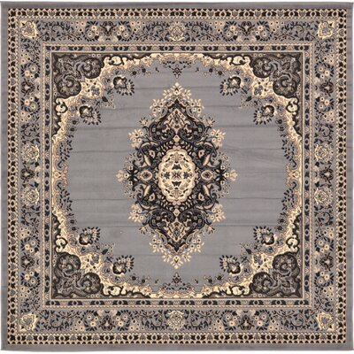Britain Gray Area Rug Rug Size: Square 8'