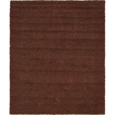 Chandler Solid Shag Brown Area Rug Rug Size: 8 x 10