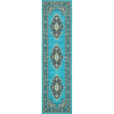Charlie Turquoise Area Rug Rug Size: Runner 27 x 10