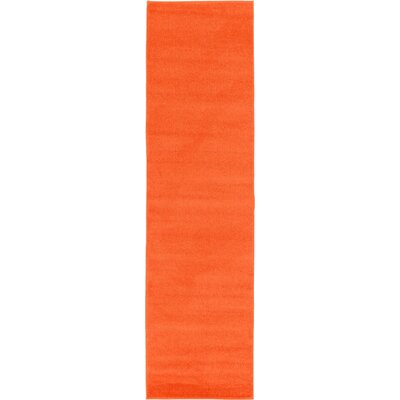 Hugh Orange Area Rug Rug Size: Runner 27 x 910