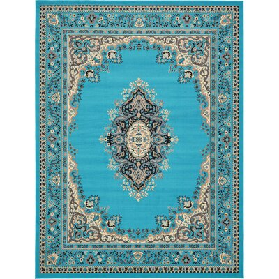 Charlie Turquoise Area Rug Rug Size: 9 x 12