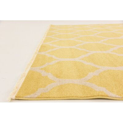 Moore Yellow Area Rug Rug Size: Square 8