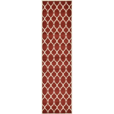 Molly Red Area Rug Rug Size: Runner 27 x 10
