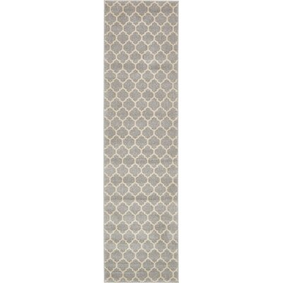 Moore Gray Area Rug Rug Size: Runner 27 x 8