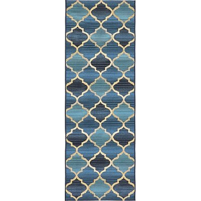 Alice Blue Indoor/ Outdoor Area Rug Rug Size: Runner 2 x 6