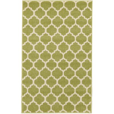 Emjay Light Green Area Rug Rug Size: 33 x 53