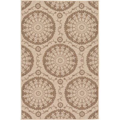 Foreside Beige Outdoor Area Rug Rug Size: Rectangle 33 x 5