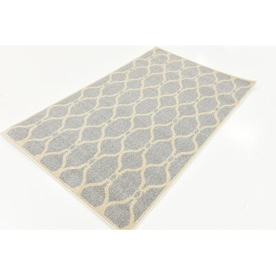 Moore Light Gray Area Rug Rug Size: Round 6