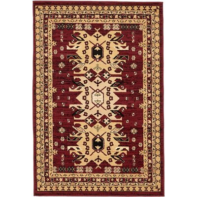 Valley Red Area Rug Rug Size: 4 x 6