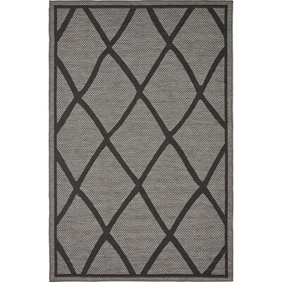 Bradley Gray Outdoor Area Rug Rug Size: 5 x 8