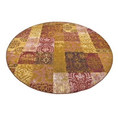 Jamie Gold Indoor/Outdoor Area Rug Rug Size: Round 8