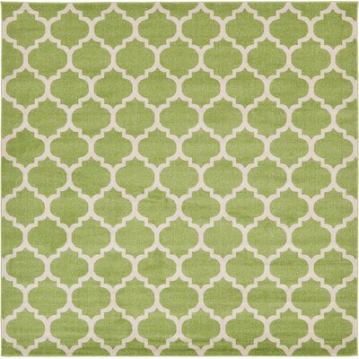 Emjay Light Green Area Rug Rug Size: Square 10