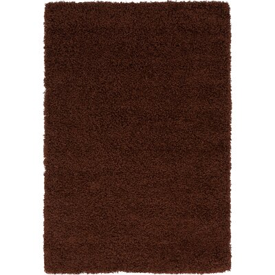 Chandler Solid Shag Brown Area Rug Rug Size: 4 x 6